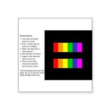 Equality Rainbow Sticker