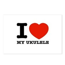 I Love My Ukulele Postcards (Package of 8)
