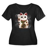 Maneki Neko Women's Plus Size V Dark T-Shirt Plus
