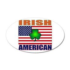 Irish American Pride 35x21 Oval Wall Decal