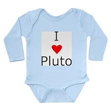 i heart Pluto Long Sleeve Infant Bodysuit