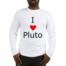 i heart Pluto Long Sleeve T-Shirt