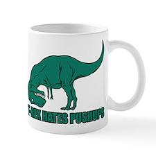 T-Rex Hates Pushups Small Mugs