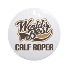 Calf Roper Gift Ornament (Round)