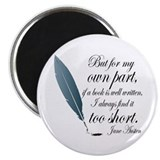 Jane Austen Book Quote Magnet