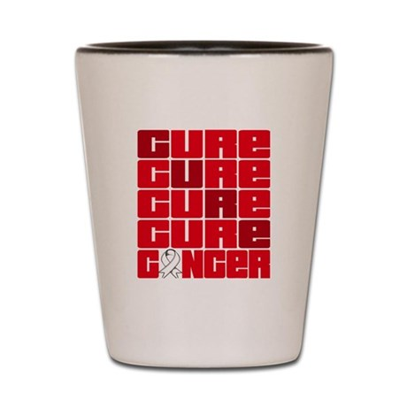 CURE Bone Cancer Collage Shot Glass