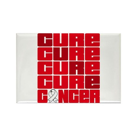 CURE Bone Cancer Collage Rectangle Magnet
