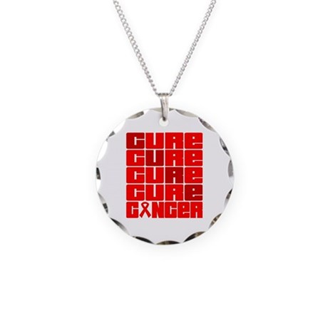 CURE Blood Cancer Collage Necklace Circle Charm