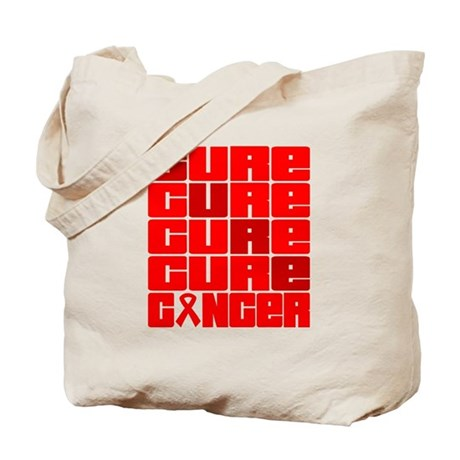 CURE Blood Cancer Collage Tote Bag