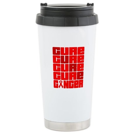 CURE Blood Cancer Collage Ceramic Travel Mug