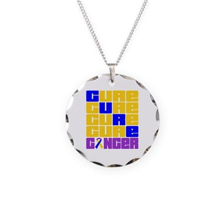 CURE Bladder Cancer Collage Necklace Circle Charm