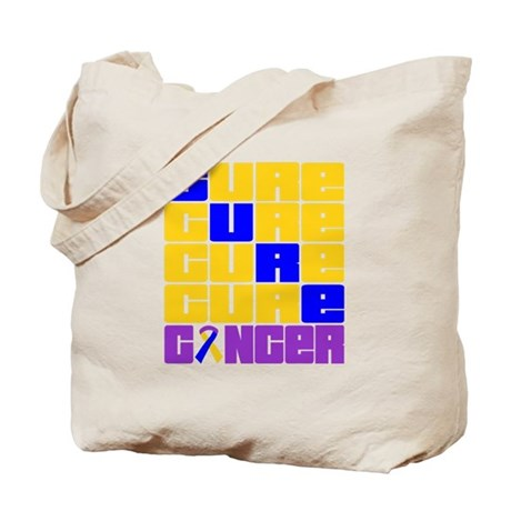 CURE Bladder Cancer Collage Tote Bag