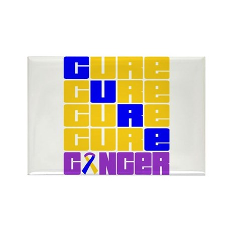 CURE Bladder Cancer Collage Rectangle Magnet