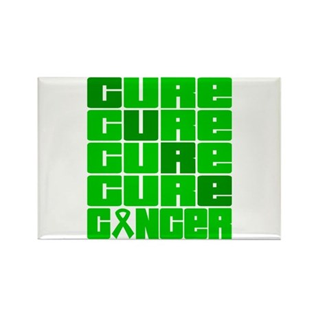 CURE Bile Duct Cancer Collage Rectangle Magnet