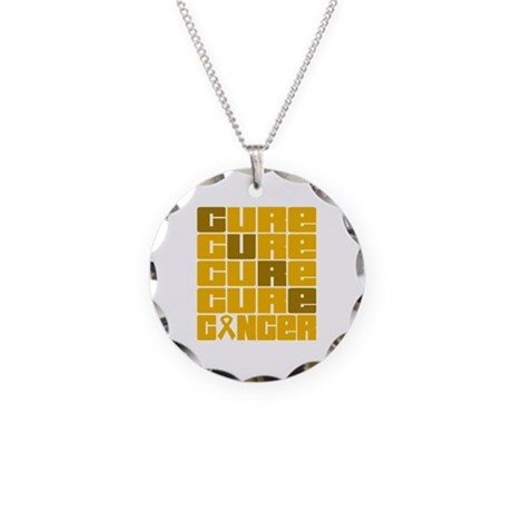 CURE Appendix Cancer Collage Necklace Circle Charm