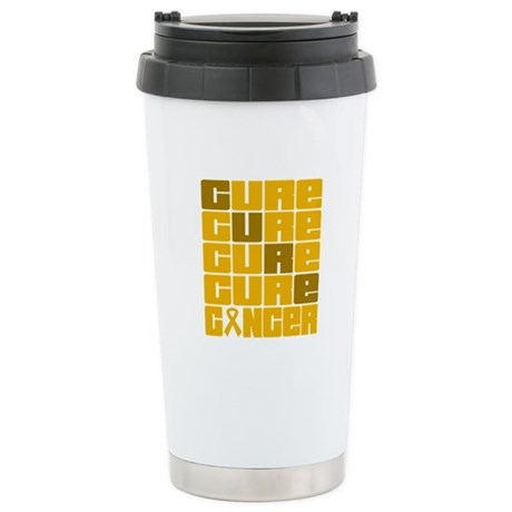 CURE Appendix Cancer Collage Ceramic Travel Mug