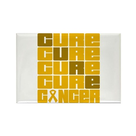 CURE Appendix Cancer Collage Rectangle Magnet