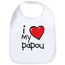 I Love My Papou Bib