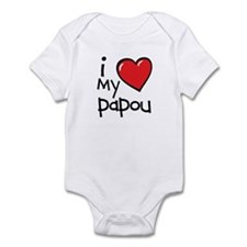 I Love My Papou Baby Bodysuit