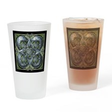 Silver & Green Celtic Tapestry Drinking Glass