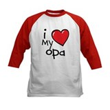 I Love My Opa Kids Shirt Raglan Sleeves