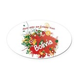 RETRO BOLIVIA 0.png Oval Car Magnet