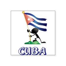"CUBA MAN 0.png Square Sticker 3"" x 3"""