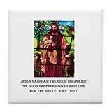 Jesus the Good Shepherd Tile Coaster
