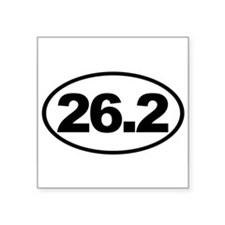 26.2 Full Marathon Oval Euro Sticker