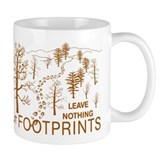 Leave Nothing but Footprints Brown Small Mug