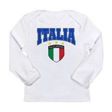 Italian soccer design Long Sleeve T-Shirt