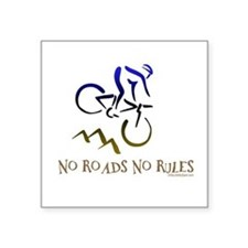 NO ROADS NO RULES Rectangle Sticker