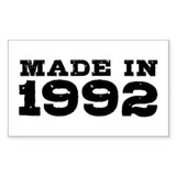 Made In 1992 Decal