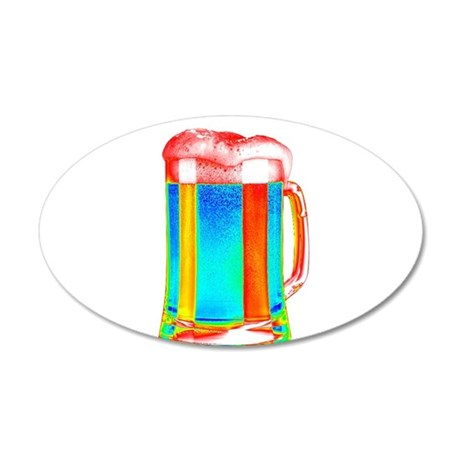 Magical Beer 35x21 Oval Wall Decal