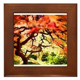 Fire Trees Framed Tile