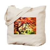 Fire Trees Tote Bag