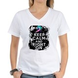 Thyroid Cancer Keep Calm and Fight On Shirt