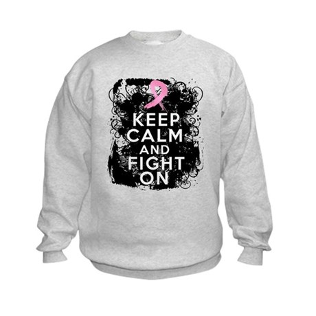 Breast Cancer Keep Calm and Fight On Kids Sweatshi