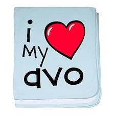 I Love My Avo baby blanket