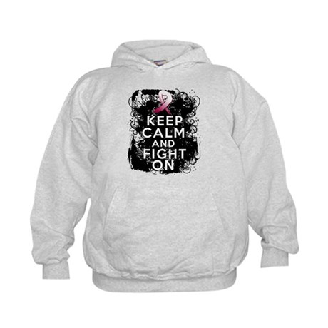 Throat Cancer Keep Calm and Fight On Kids Hoodie