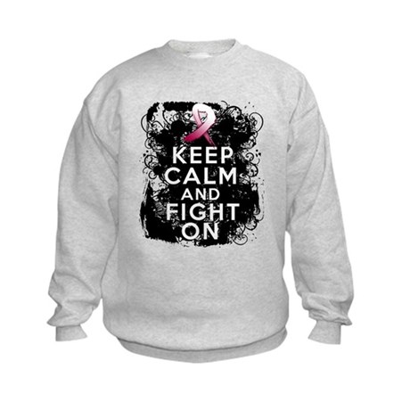 Throat Cancer Keep Calm and Fight On Kids Sweatshi