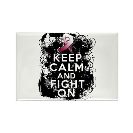 Throat Cancer Keep Calm and Fight On Rectangle Mag