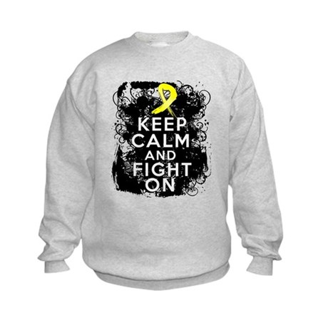 Testicular Cancer Keep Calm and Fight On Kids Swea