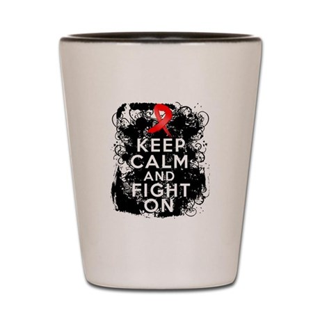 Stroke Keep Calm and Fight On Shot Glass