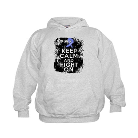 Stomach Cancer Keep Calm and Fight On Kids Hoodie