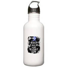 Stomach Cancer Keep Calm and Fight On Water Bottle