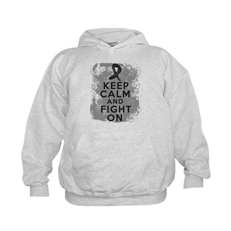 Skin Cancer Keep Calm and Fight On Kids Hoodie