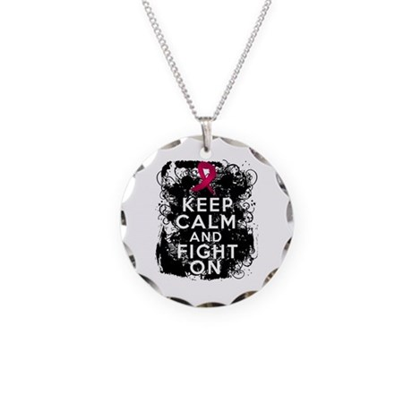 Sickle Cell Anemia Keep Calm and Fight On Necklace