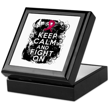 Sickle Cell Anemia Keep Calm and Fight On Keepsake