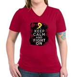 Sarcoma Keep Calm and Fight On Shirt